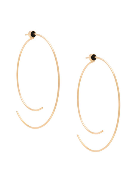 Diane Kordas open rose gold rose women earrings hoop earrings gold nude jewels