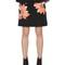 Floral embellished scuba crepe skirt
