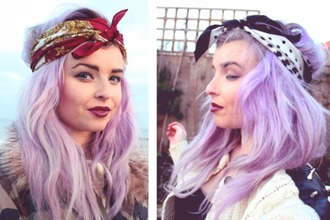 hair accessory bandana turban headband melon lady helen anderson blue pastel hair