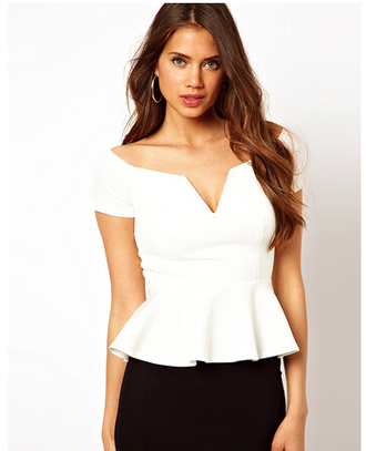 blouse white blouse v neck ruffle