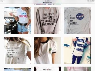 shirt space nasa graphic tee geek