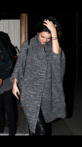 kendall jenner cardigan oversized knitwear winter outfits