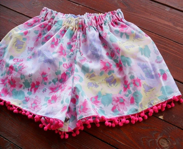 shorts shorts pom pom flowered shorts summer shorts beach shorts pom pom shorts skirt shorts women short