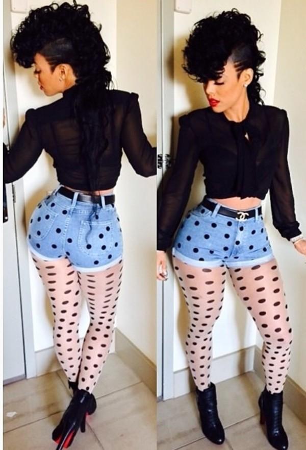 Blouse leggings shorts tights - Wheretoget
