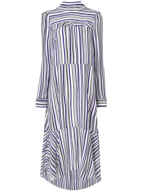 Dorothee Schumacher dress striped dress long women silk