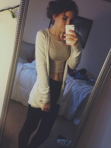 pants cute ootd crop tops sweater