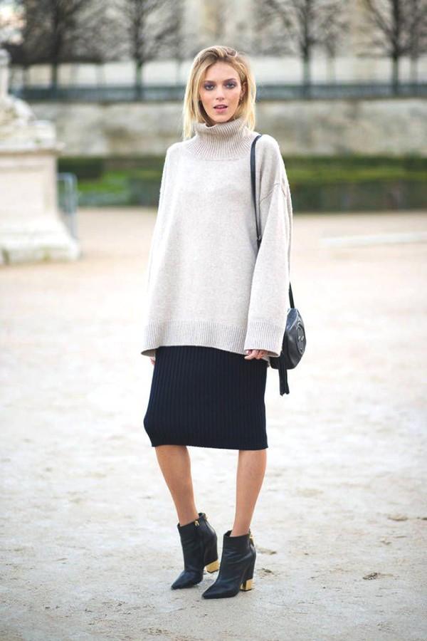skirt knitted skirt midi skirt black skirt sweater. Black Bedroom Furniture Sets. Home Design Ideas