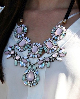 jewels necklace summer floral