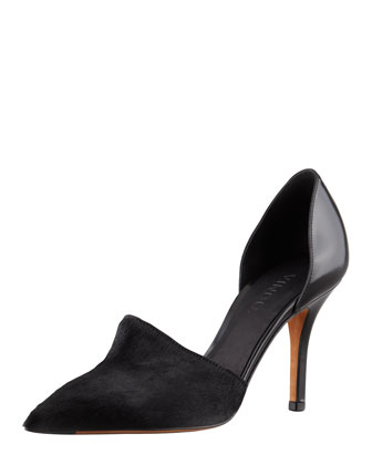 Vince Claire Two-Piece Calf Hair Pump, Black - Bergdorf Goodman