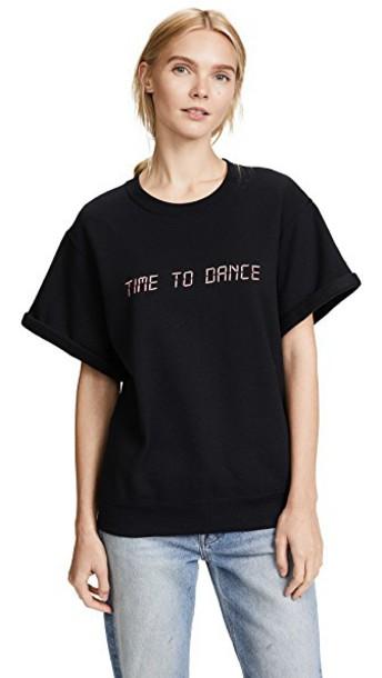 Paradised sweatshirt dance embroidered black sweater