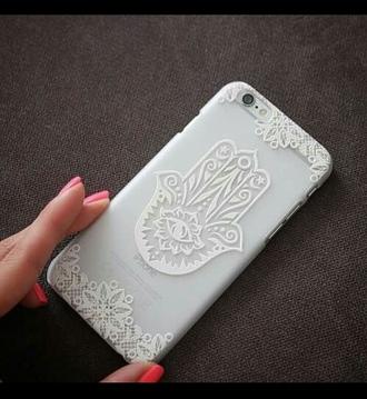 phone cover white phone case purse/iphone case accessories jewels earphones phone islamic fashion islam hand of fatima