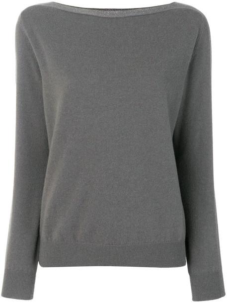 Fabiana Filippi jumper women silk grey sweater