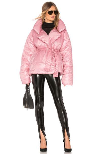 Norma Kamali Short Sleeping Bag Coat in pink