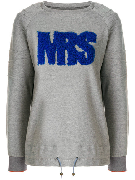 Mr & Mrs Italy sweatshirt fur women cotton grey sweater