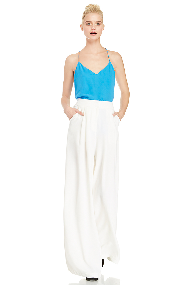 Dailylook: classic wide leg pants in ivory xs