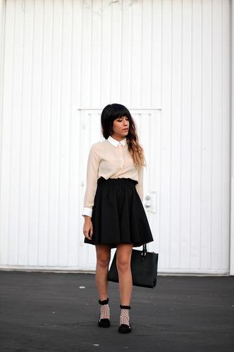 joellen love blogger top skirt bag shoes socks