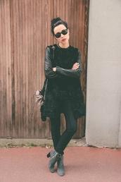 manteau en fourrure,manches en cuir,maje,taille 34