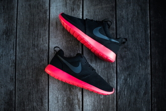 shoes neon nike black nike running shoes nike roshe run red colur nike roshes black pink women nik running pink pink dress black shoes black and pink nike roshess neon nike roshes neon pink roshes athletic cute sneakers nike sneakers black and pink pink bottom shoes fabulous fitness sports shoes nike shoes