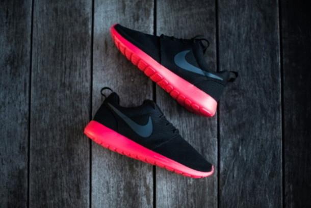 shoes neon nike black nike running shoes nike roshe