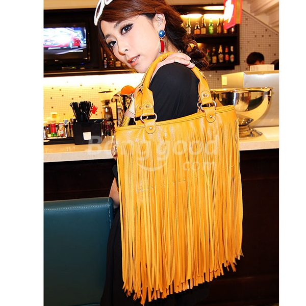 Korean Style Long Tassel Rivet Bag Women Shoulder Messenger Handbag  Free Shipping!  - US$25.54