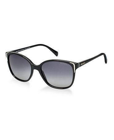 Prada Sunglasses, PR 01OS - Sunglass Hut - Macy's