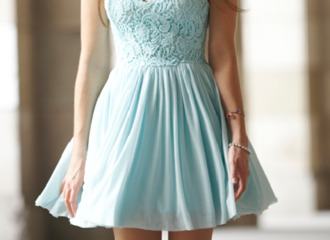 dress floaty dress blue clothes blogs tumblr lace duck egg blue pastel blue dress cocktail dress knee length blue lace dress laced cute light blue