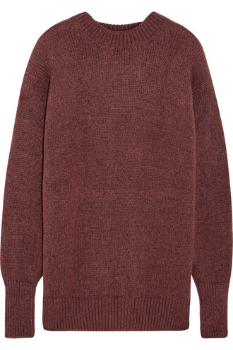 sweater knitted sweater brown