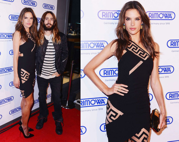 alessandra ambrosio dress bag
