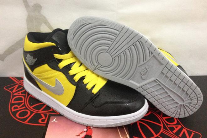 Mens Shoes: Michael Air Jordan 1 (Black Stealth/Speed Yellow) - Phat -  $97.89 - marsretro.com