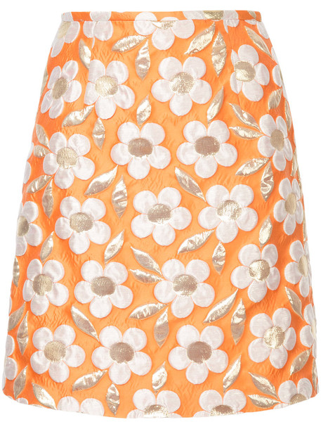 Bambah skirt mini skirt mini women daisy silk yellow orange