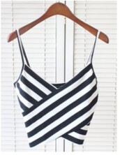 top,black and white,cropped,summer,fashion,style,crop tops,trendy,cute,rosegal-jan,girly,cool,stripes,trendsgal.com