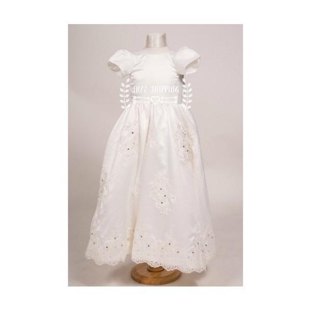 8f100cb5007c dress, communion baptism dress, gown, white, heirloom, handbag ...