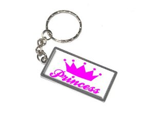 Amazon.com : graphics and more princess crown spoiled keychain ring (k0076) : automotive key chains : office products