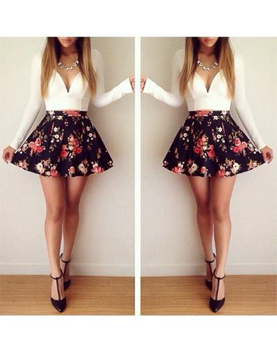 Floral print couture mini dress