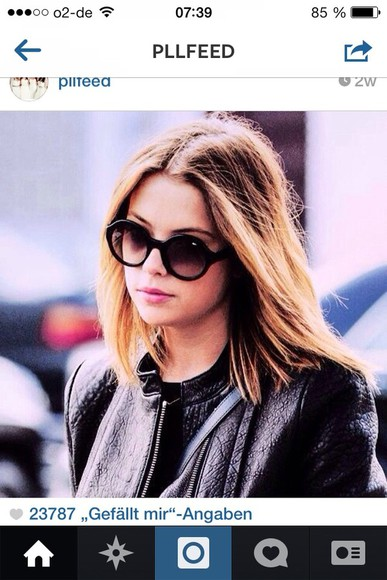 sunglasses round ashley benson
