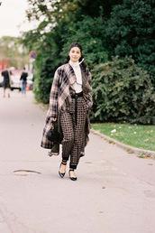 vanessa jackman,blogger,pants,shirt,fall outfits,coat,handbag,bag,shoes