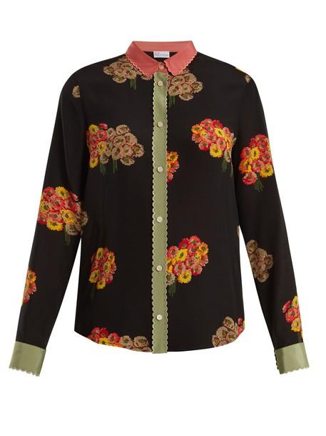REDValentino shirt print silk black top