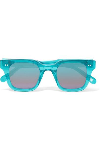 CHIMI sunglasses mirrored sunglasses turquoise