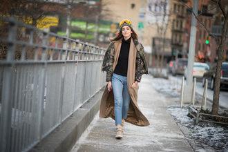 the blonde salad blogger jacket long coat camouflage