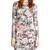 Fleur du Mal Printed Knit Dress with Side Snaps