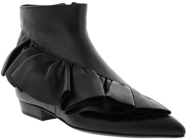 J.W. Anderson boot ruffle black shoes