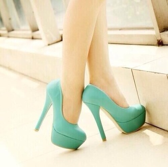 shoes heels colorful light blue turquoise heels