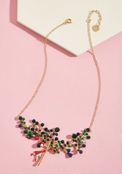 Les Nereides statement necklace statement necklace red jewels