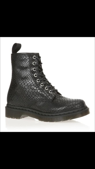 shoes snake boots black