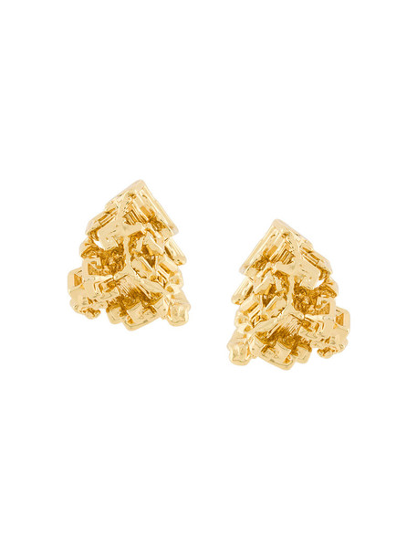 Coup De Coeur women earrings stud earrings gold grey metallic jewels