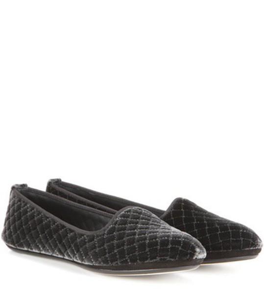 Bottega Veneta slippers velvet black shoes