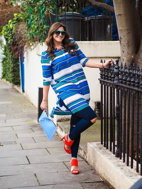 fashion foie gras blogger shoes bag top jeans plus size jeans curvy