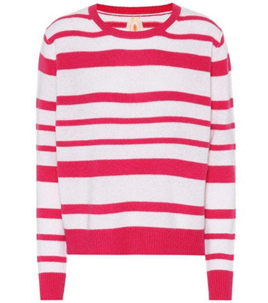 Jardin des Orangers Striped cashmere sweater in pink