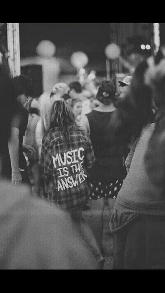 shirt plaid button up music punk