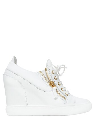 sneakers leather wedge sneakers white shoes